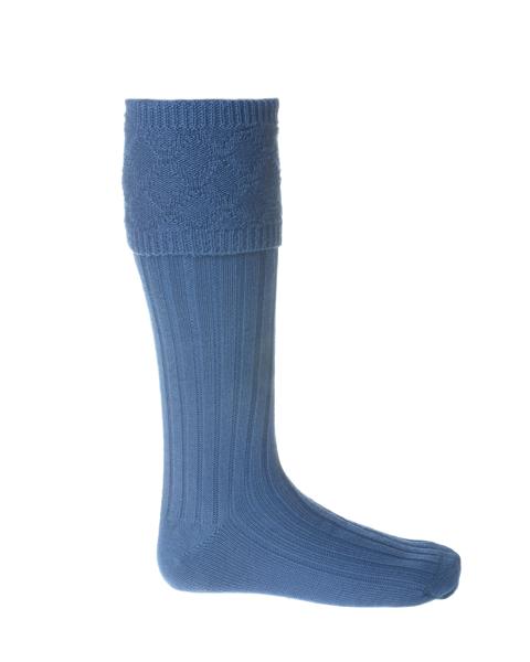 GLENCOE Ancient Blue kilt socks