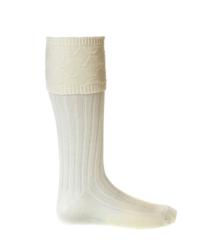 GLENCOE Ecru kilt socks