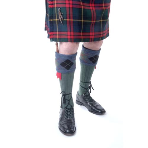 Argyle tops Ancient Scott kilt socks