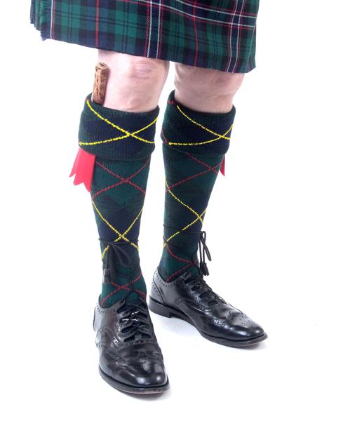 Full Hunting Scott Kilt Sock with tartan kilt