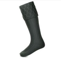 LEWIS charcoal kilt socks