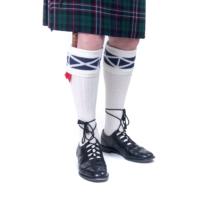 Saltire Kilt Socks White Blue