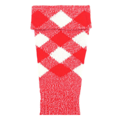 regimental half hose red white
