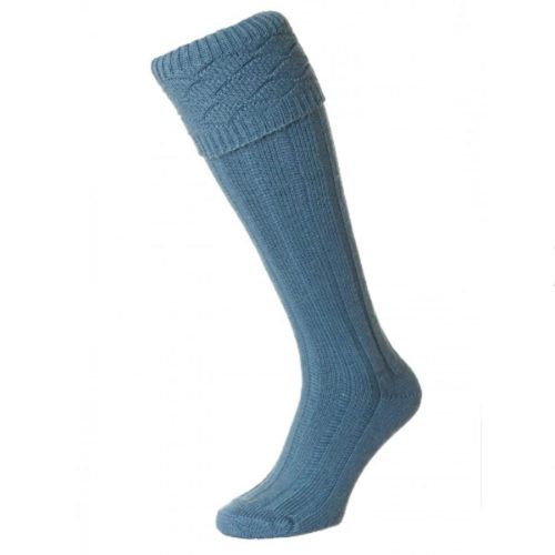 Air force Blue patterned kilt sock