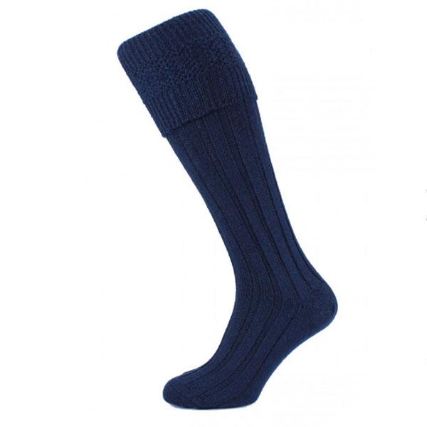 Navy blue kilt socks (premium)