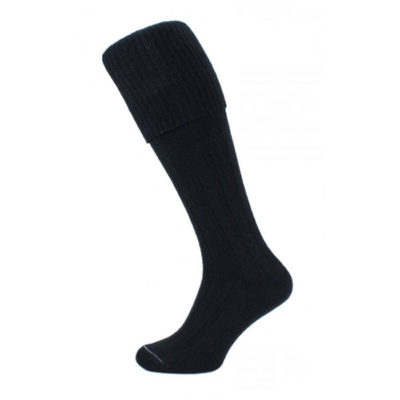 Black kilt socks (plain)