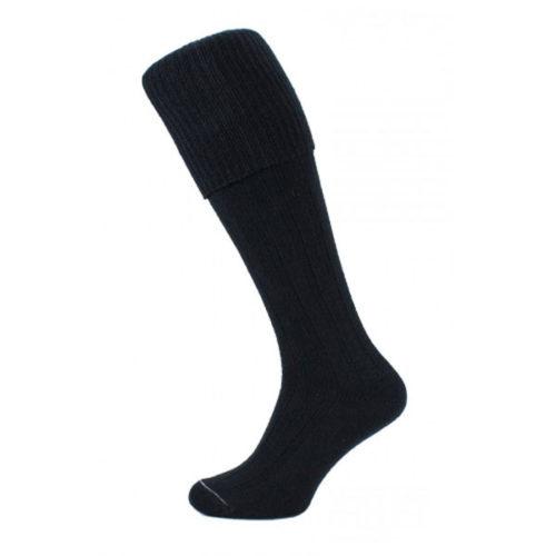 Black kilt socks (plain)