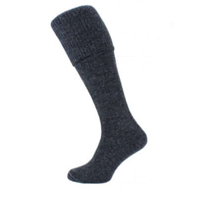 Charcoal kilt socks (plain)