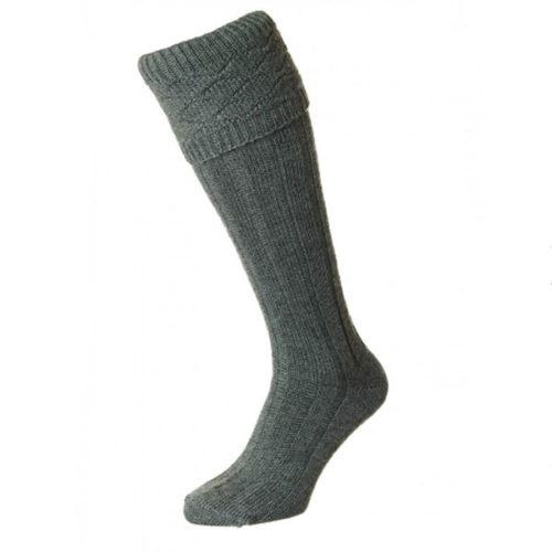 Marl patterned grey kilt socks